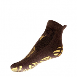 CHAUSSETTES YOGA NATURAL - MARRON & OR