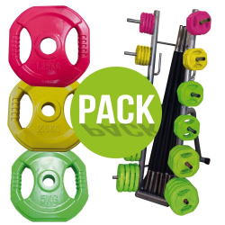 PACK RACK + 10 KITS PUMP 20KG COULEUR