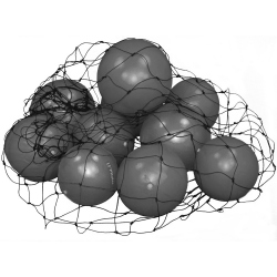 LOT DE 20 BALLONS PAILLE GRIS POUR LE PILATES + FILET