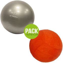 PACK : HOUSSE ORANGE ET BALLON DIAMETRE 65CM