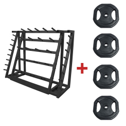 PACK RACK + 20 KITS PUMP 20KG NOIRS