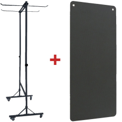 PACK RACK ROULANT + 20 TAPIS NOIRS